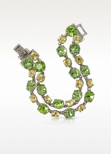 Forzieri Браслет с Зелеными и Светло-желтыми Кристаллами