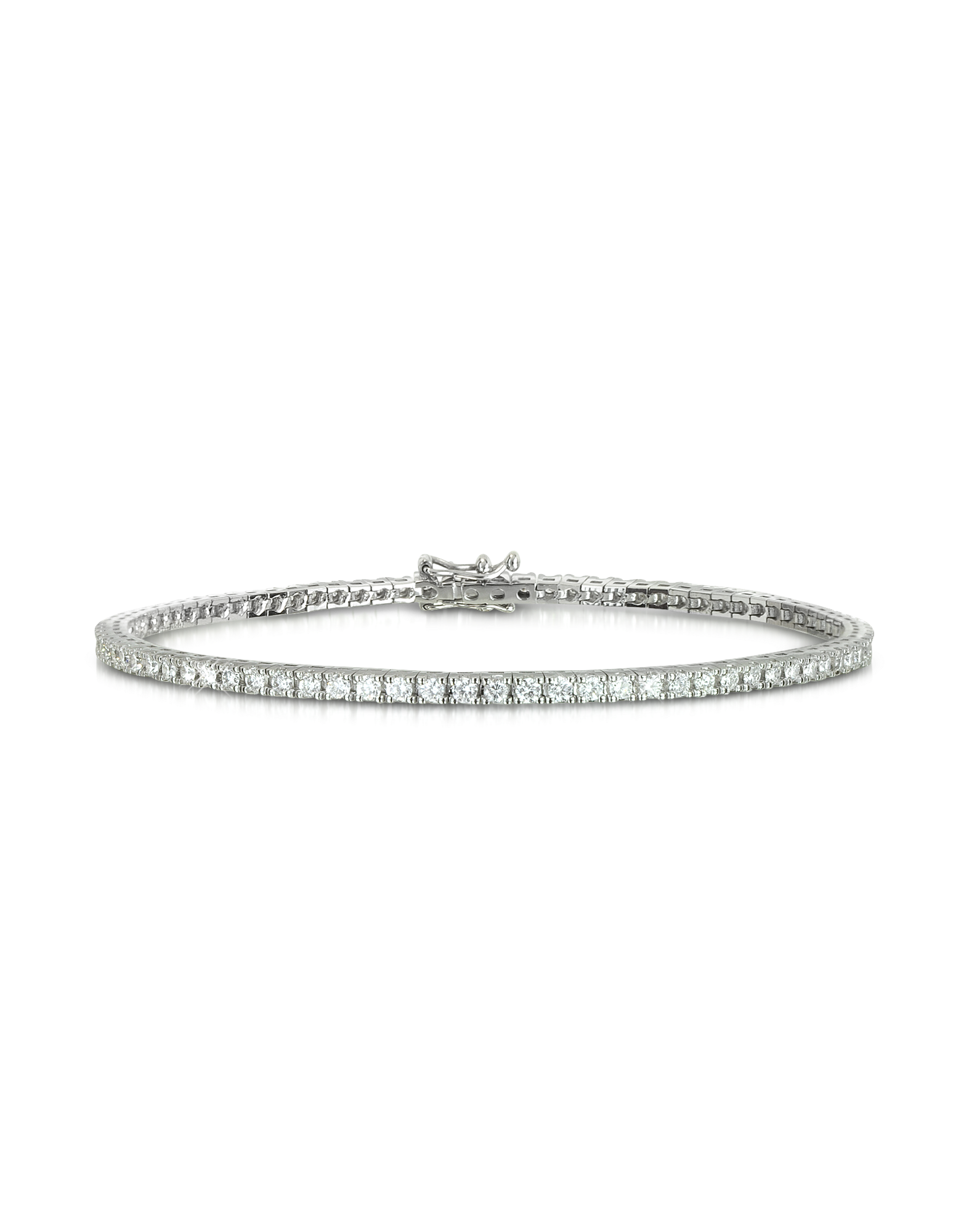 Image of 1.56 ctw Diamond 18K White Gold Tennis Bracelet