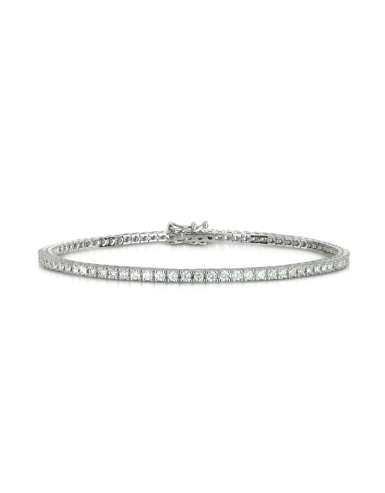 Forzieri Designer Bracelets, 1.56 ctw Diamond 18K White Gold Tennis Bracelet