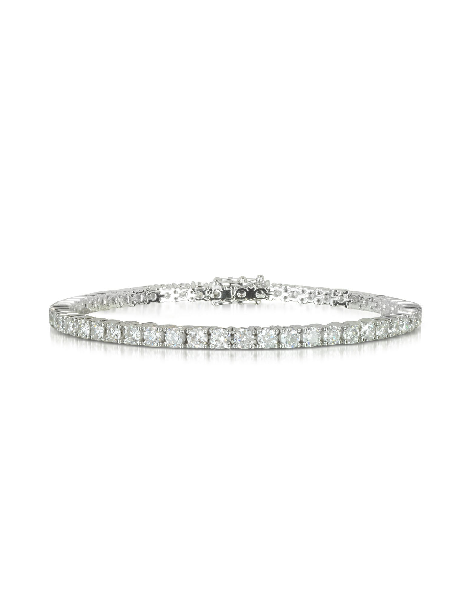 Image of 5.30 ctw Diamond 18K White Gold Tennis Bracelet