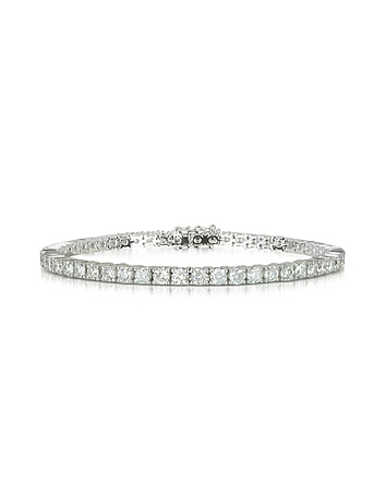 Forzieri - 5.30 ctw Diamond 18K White Gold Tennis Bracelet