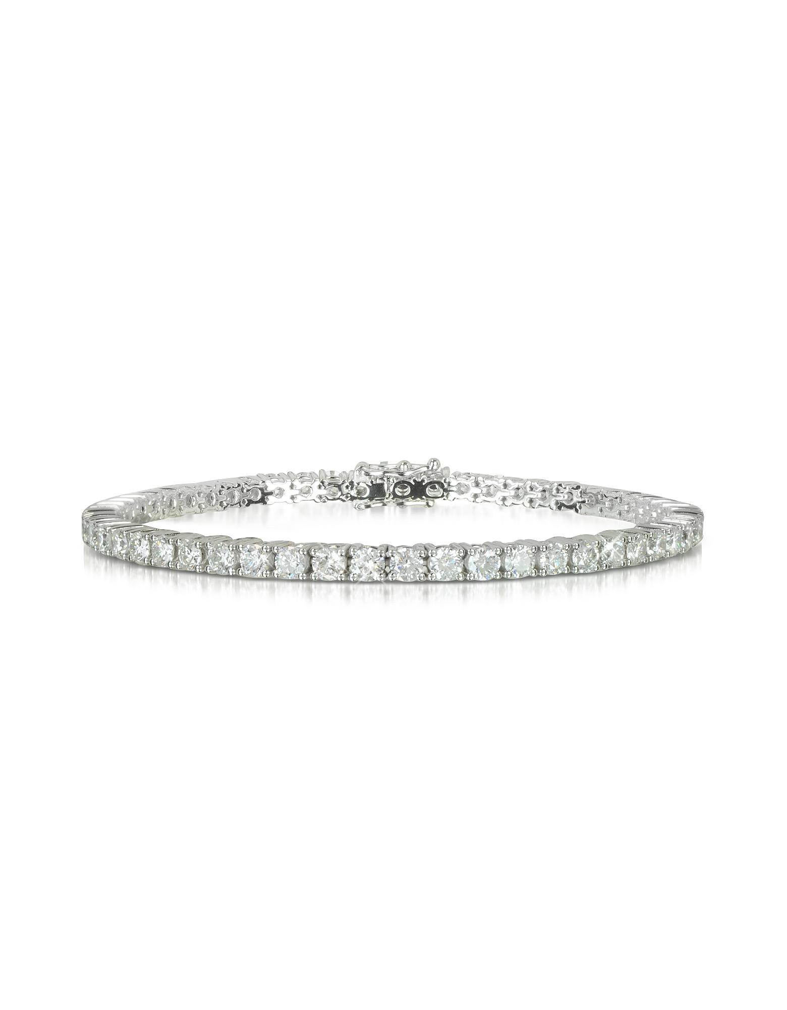 Forzieri Bracelets, 5.30 ctw Diamond 18K White Gold Tennis Bracelet