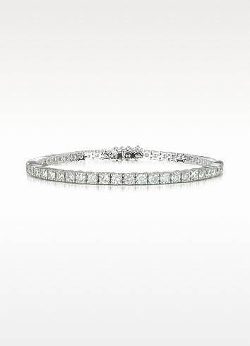 5.30 ctw Diamond 18K White Gold Tennis Bracelet - Forzieri