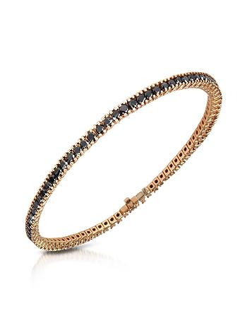 Forzieri - Black Diamond Eternity 18K Gold Tennis Bracelet