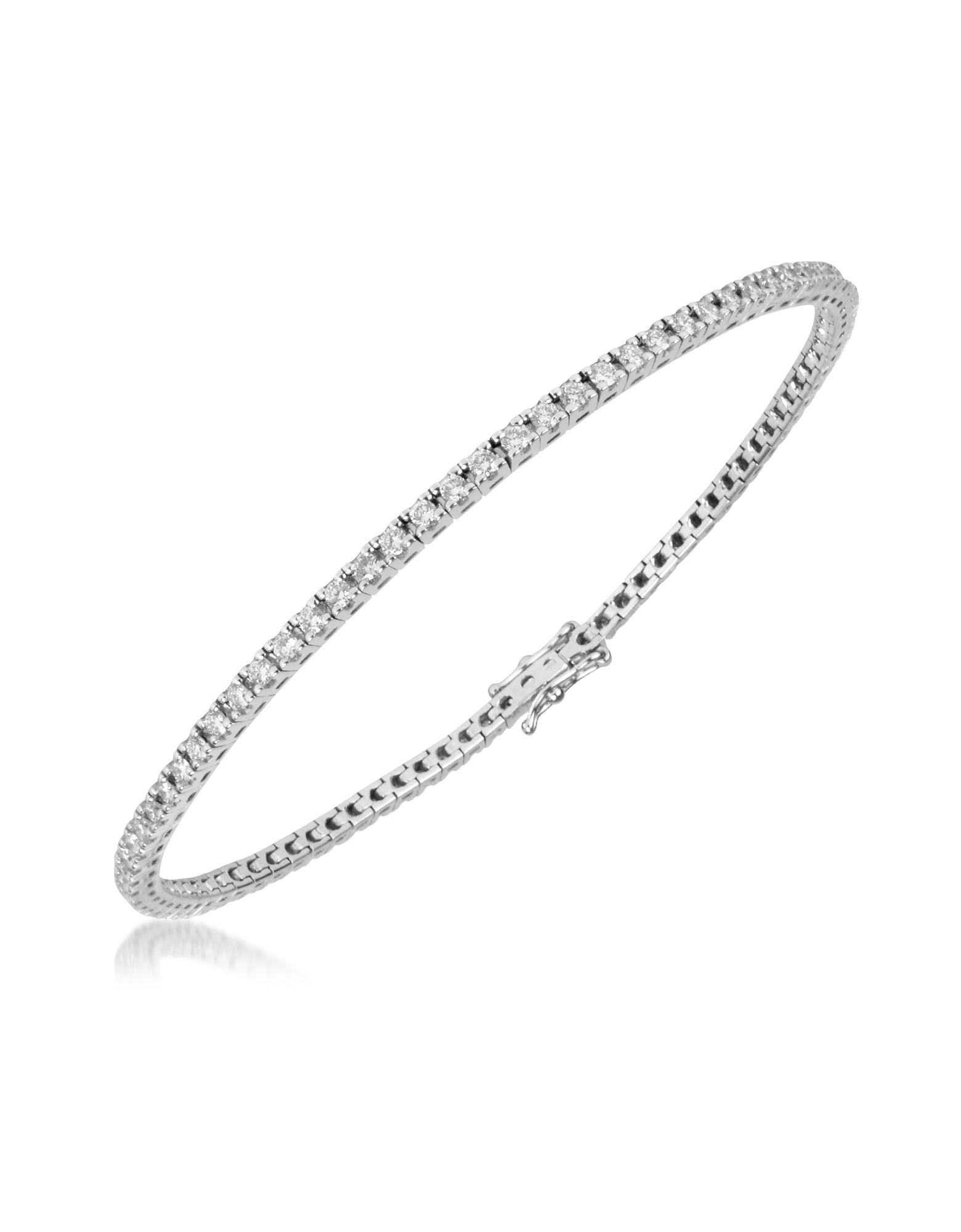 Image of 1.61 ctw White Diamond Eternity 18K Gold Tennis Bracelet