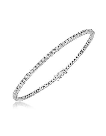 Forzieri - 1.61 ctw White Diamond Eternity 18K Gold Tennis Bracelet