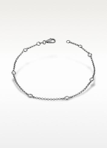 Bezel-set Diamond 18K Gold Bracelet - Forzieri