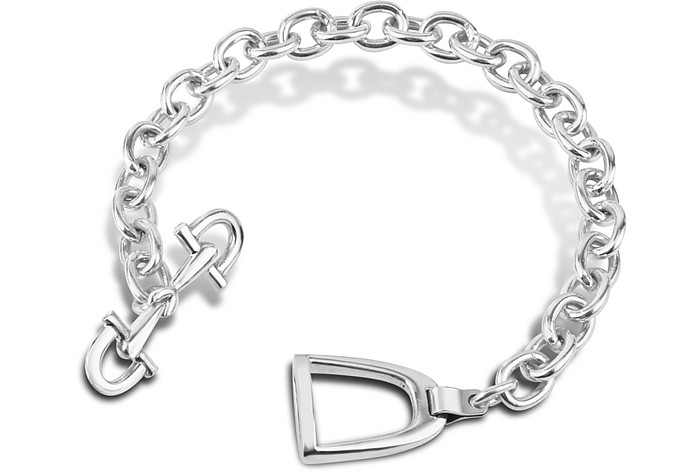 Sterling Silver Horsebit and Stirrup Bracelet - Forzieri