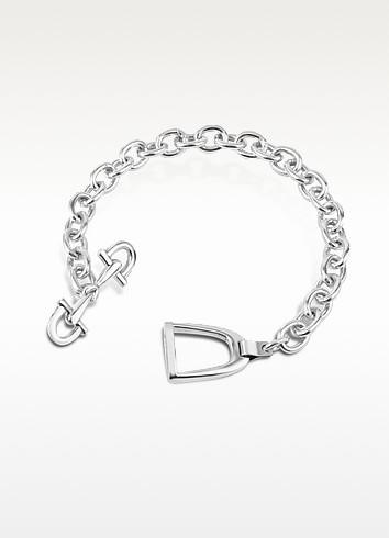 Sterling Silver Horsebit and Stirrup Bracelet - Forzieri