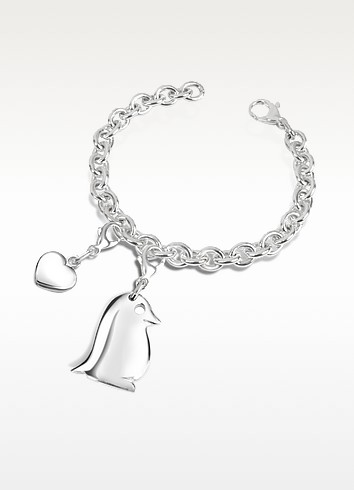 Sterling Silver Penguin Bracelet - Forzieri
