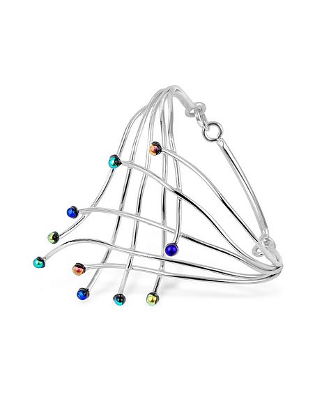 Foto Forzieri Fuochi d'artificio - Bracciale in argento con gemme di vetro Braccialetti