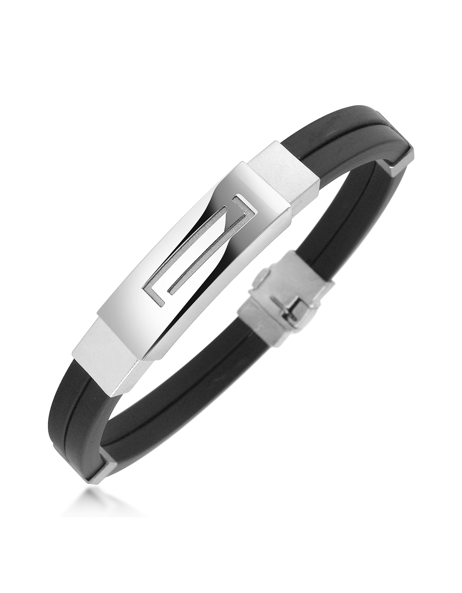 Forzieri Bracelets, Men's Rubber and Stainless Steel Bracelet