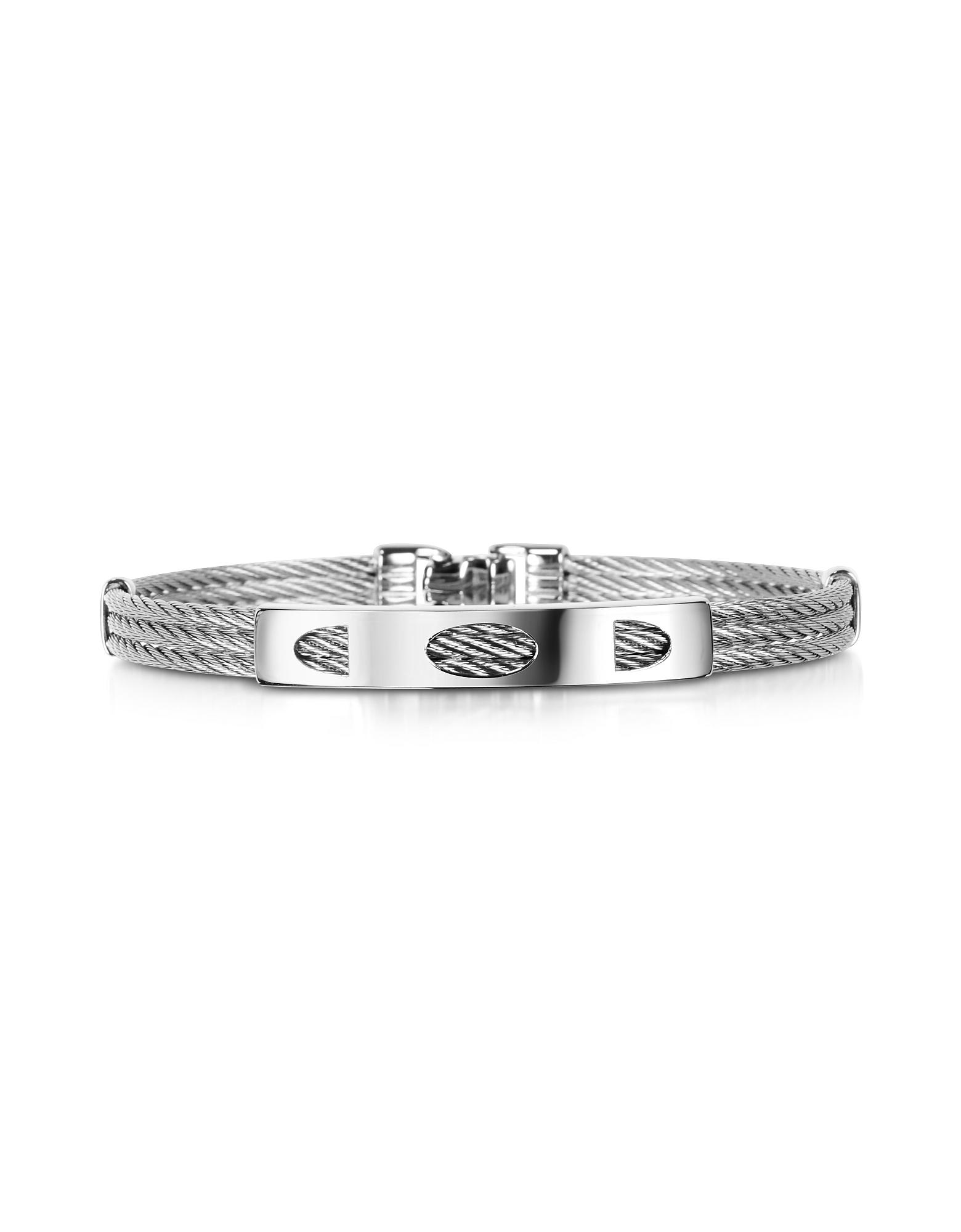 DiFulco Line Stainless Steel Three-Strand Bracelet