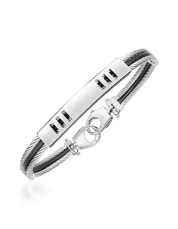 Forzieri - Di Fulco Line Stainless Steel Men's Bracelet