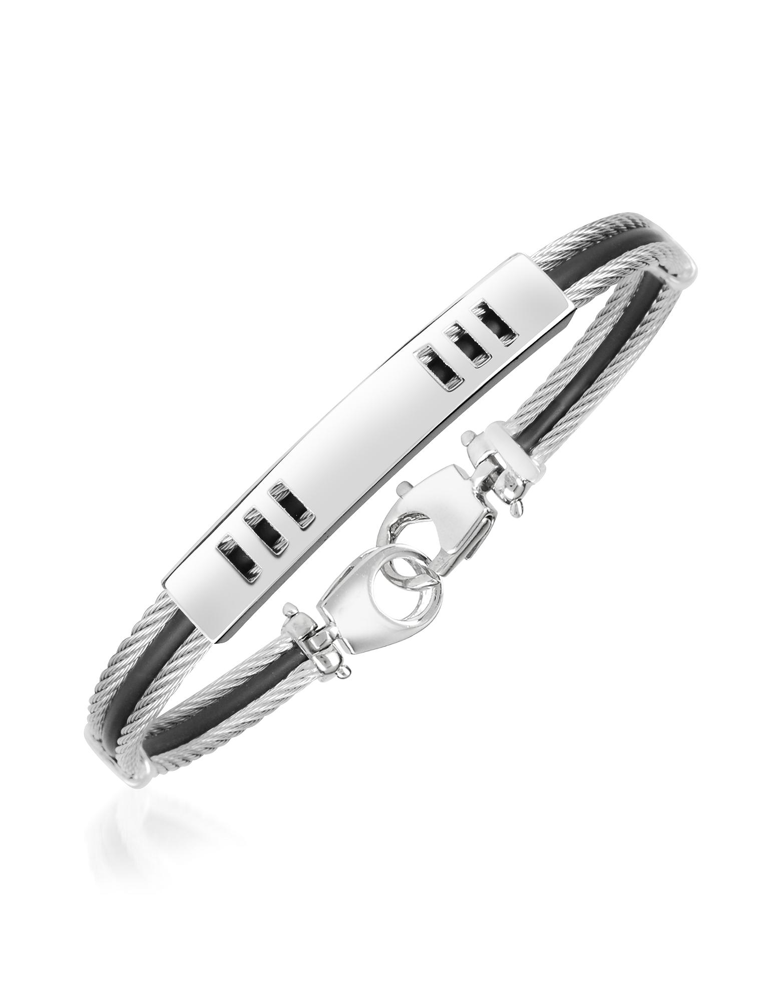Forzieri Men's Bracelets, Di Fulco Line Stainless Steel Men's Bracelet