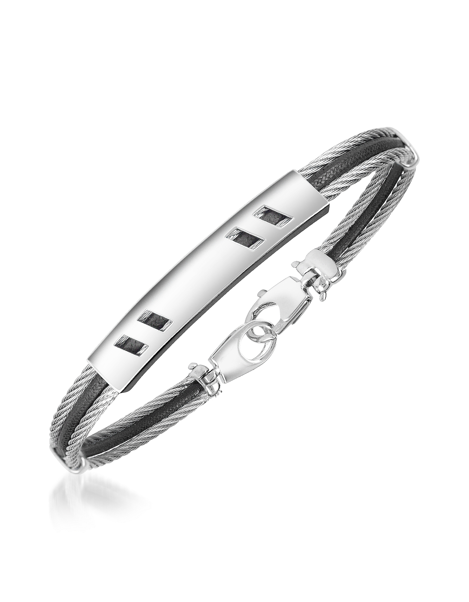 Forzieri Men's Bracelets, DiFulco Line Stainless Steel Bracelet