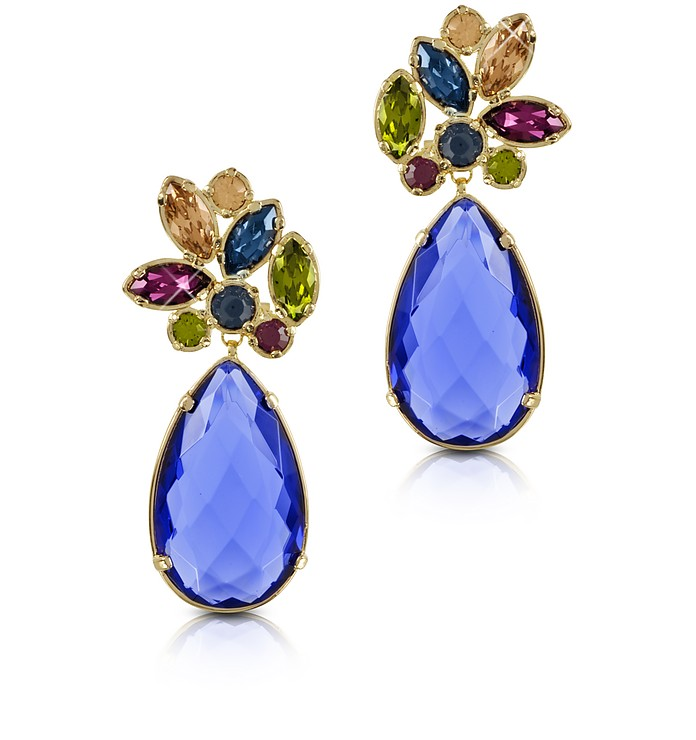 Crystal Drop Earrings - Forzieri