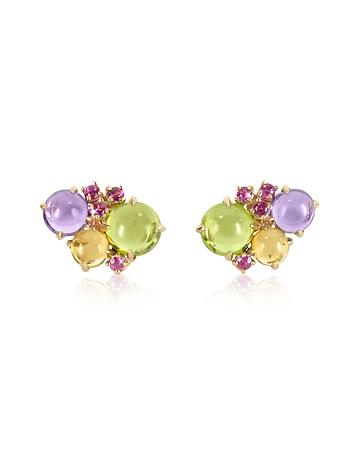 Mia & Beverly - Gemstones 18K Rose Gold Earrings