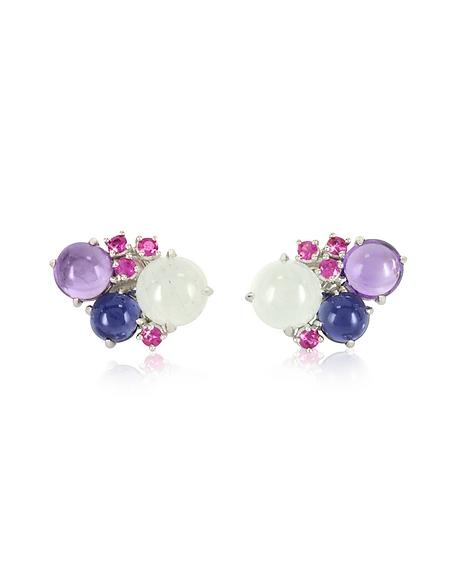 Mia Beverly Gemstones Ohrringe aus 18k Weißgold