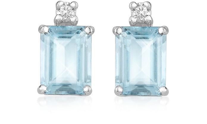 Aquamarine and Diamond 18K Gold Earrings - Incanto Royale