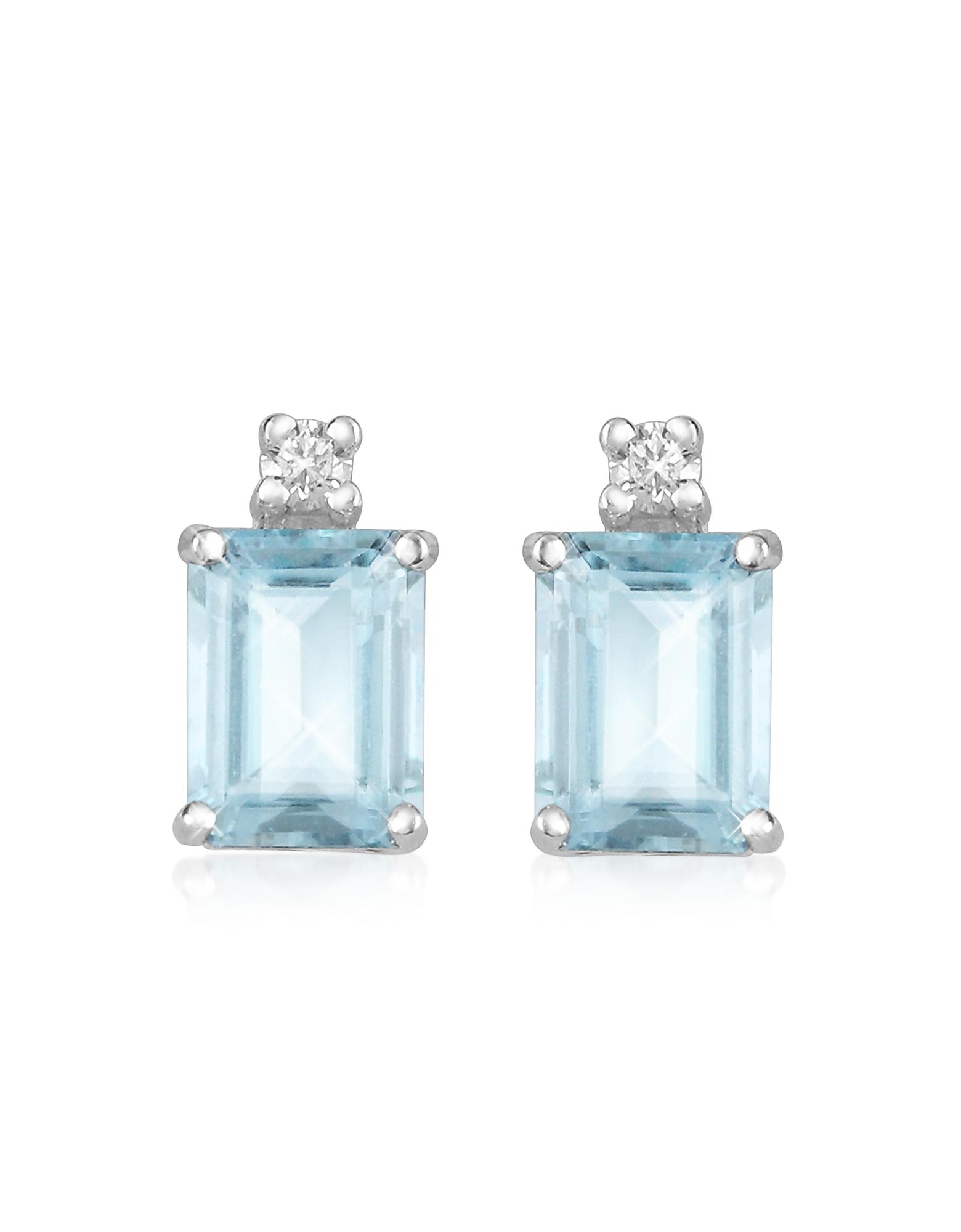 Incanto Royale Earrings, Aquamarine and Diamond 18K Gold Earrings