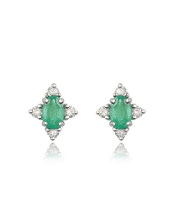 Incanto Royale - Emerald and Diamond 18K Gold Earrings