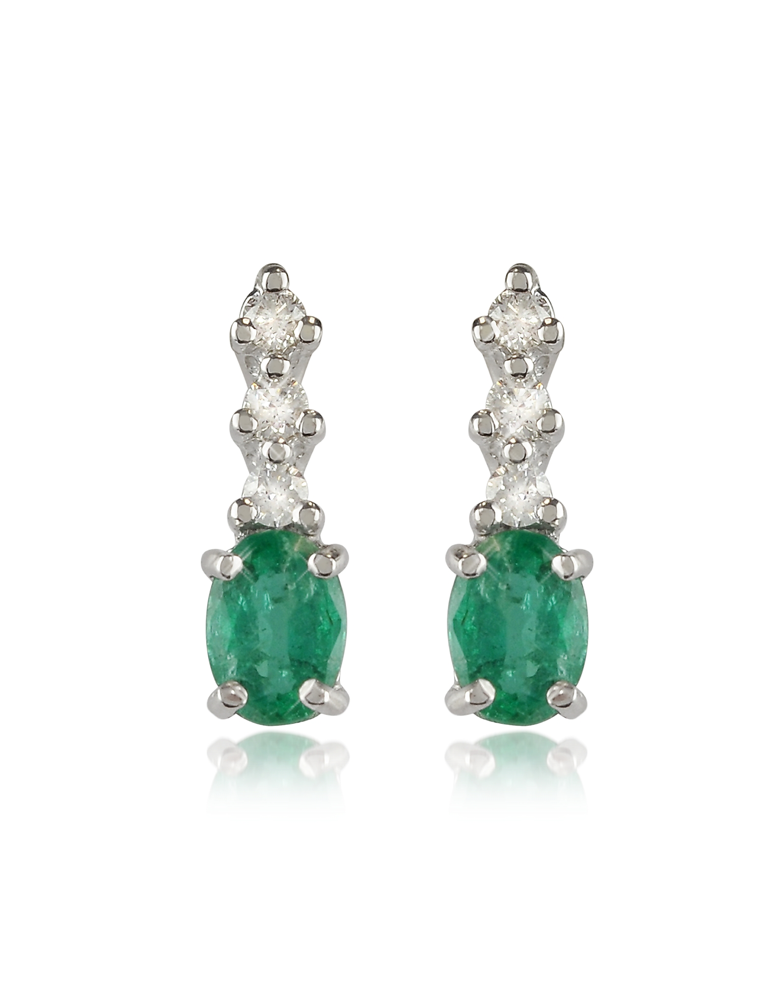 Incanto Royale Designer Earrings, Emerald and Diamond 18K Gold Drop Earrings