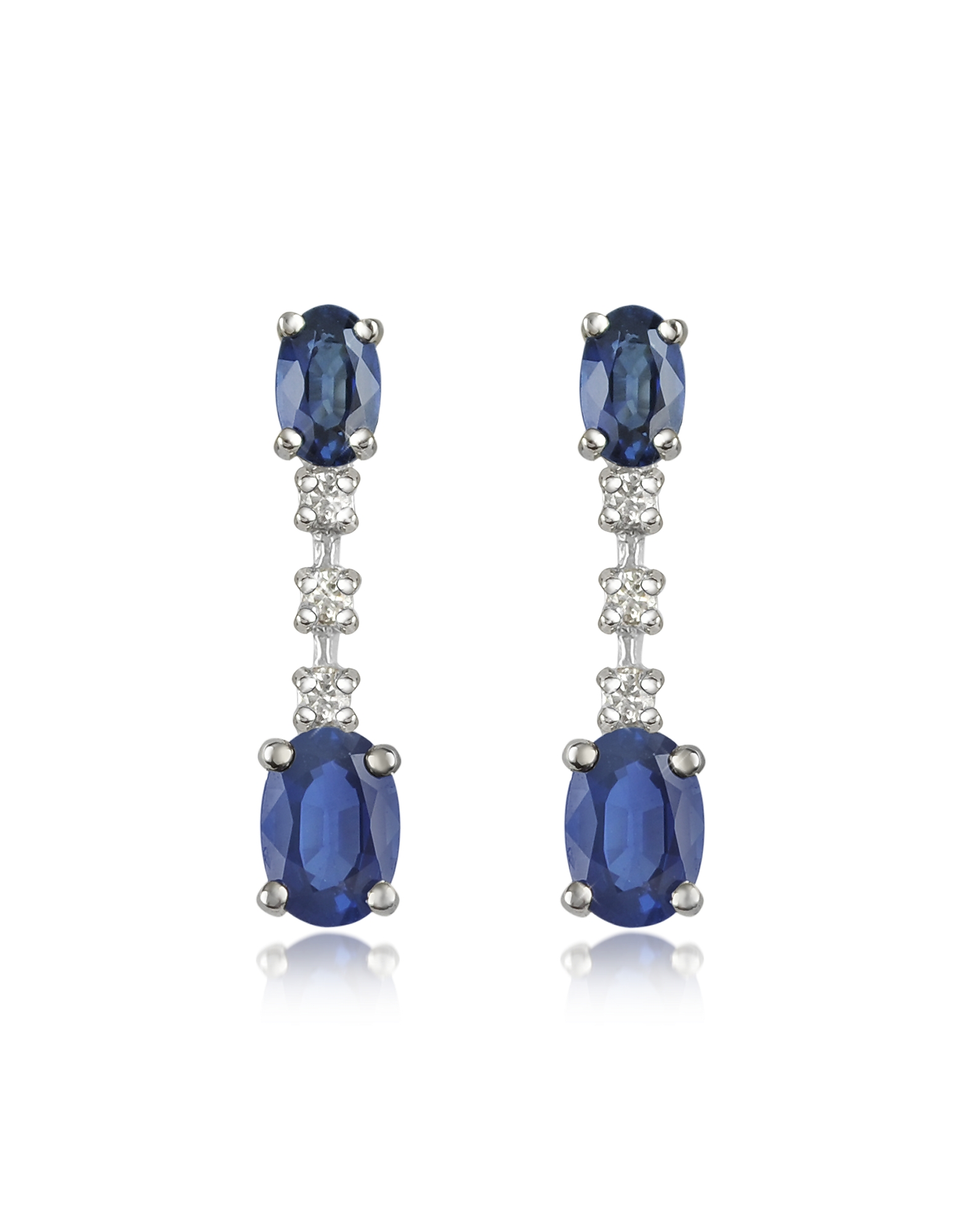 Incanto Royale Earrings, Sapphire and Diamond 18K Gold Drop Earrings
