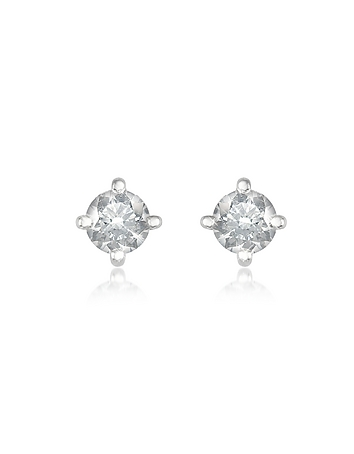 Forzieri - 0.37 ct Four-Prong Diamond Stud Earrings