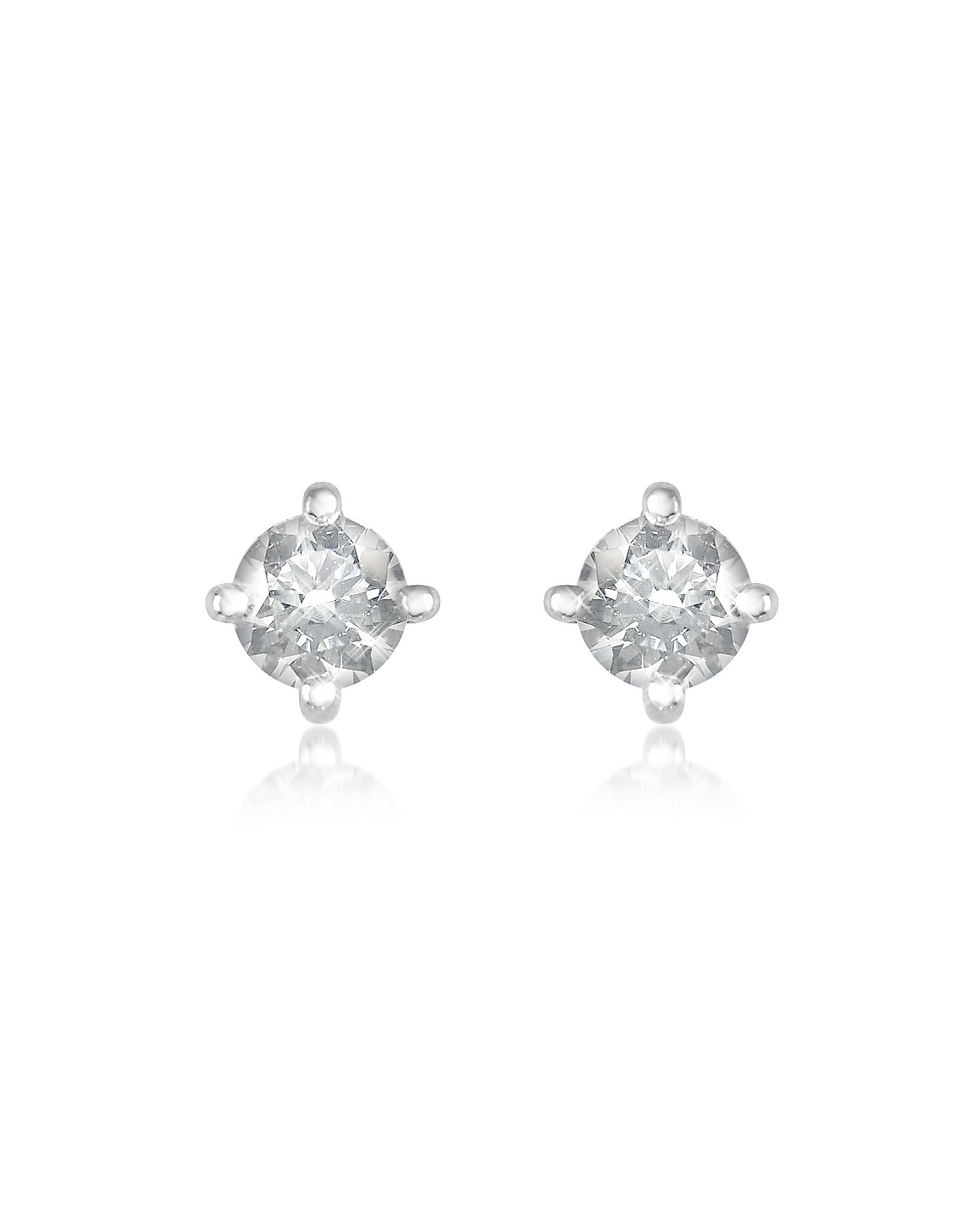 Forzieri Earrings, 0.37 ct Four-Prong Diamond Stud Earrings