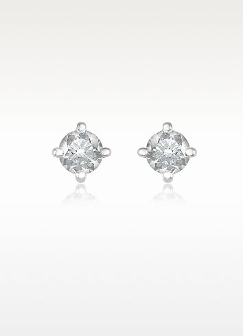0.37 ct Four-Prong Diamond Stud Earrings - Forzieri