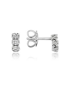 0.22 ctw Three-Stone Drop Diamond 18K Gold Earrings - Forzieri