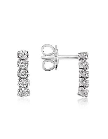 Forzieri - 0.37 ctw Five-Stone Drop Diamond 18K Gold Earrings