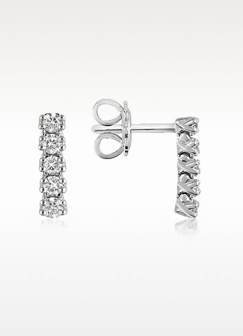 0.37 ctw Five-Stone Drop Diamond 18K Gold Earrings - Forzieri