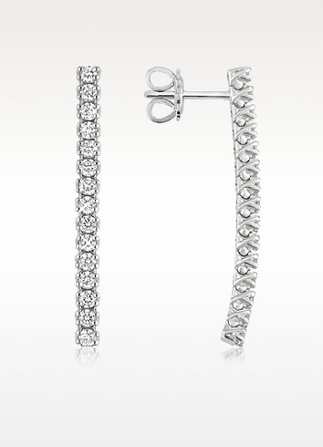 1.03 ctw Drop Diamond 18K Gold Earrings - Forzieri