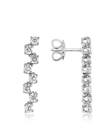 Forzieri - 1.06 ctw Drop Diamond 18K Gold Earrings