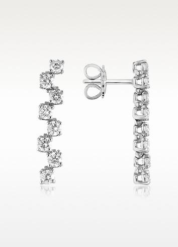 1.06 ctw Drop Diamond 18K Gold Earrings - Forzieri