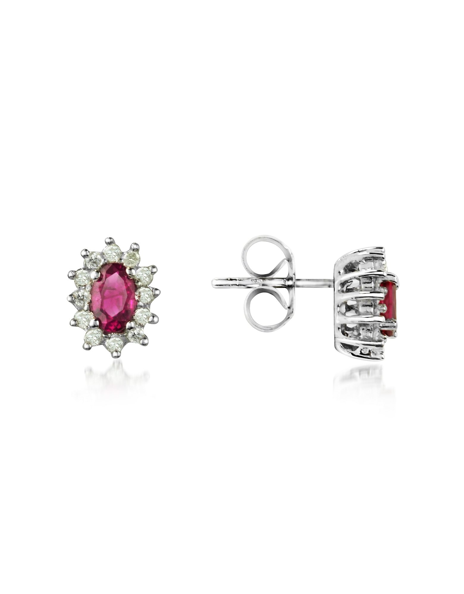 Ruby and Diamond 18K Gold Earrings
