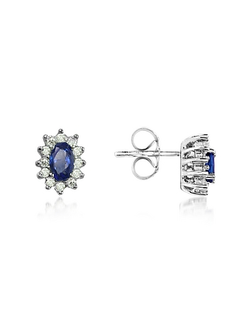 Incanto Royale - Sapphire and Diamond 18K Gold Earrings