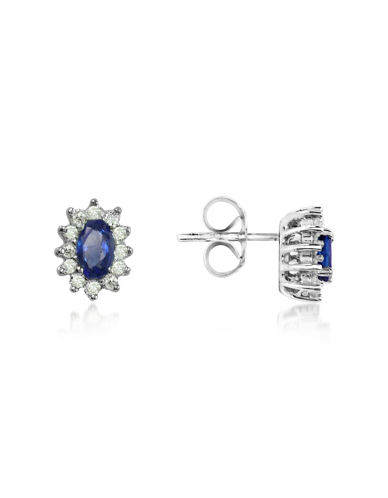 Sapphire and Diamond 18K Gold Earrings