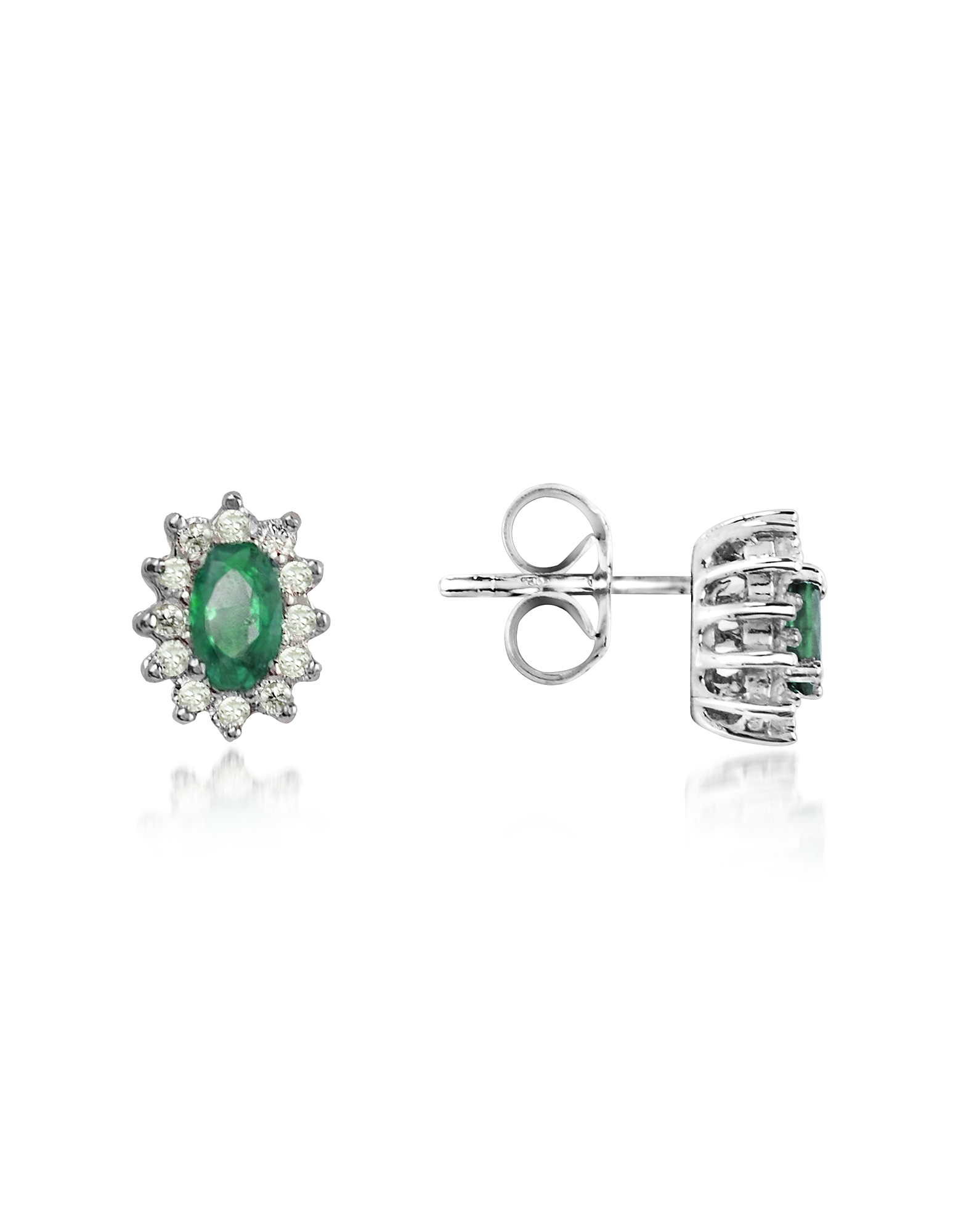 Incanto Royale Earrings, Emerald and Diamond 18K Gold Earrings