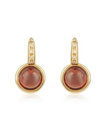 Mia & Beverly - Garnet and Diamond 18K Rose Gold Earrings