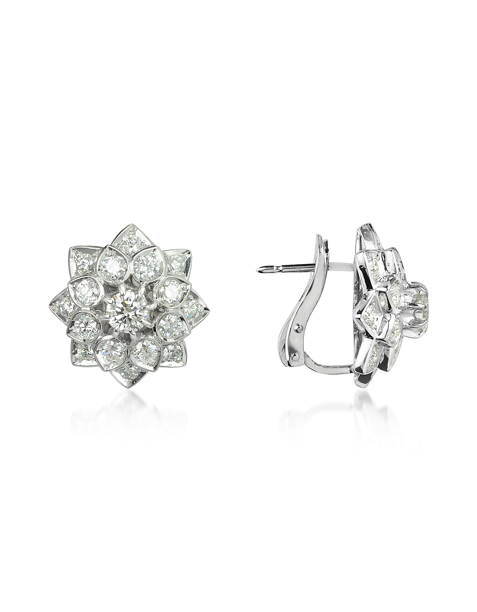Incanto Royale Earrings, 2.2 ctw Diamond 18K Gold Earrings