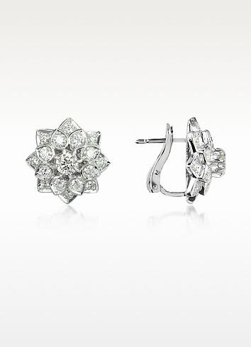 2.2 ctw Diamond 18K Gold Earrings - Incanto Royale