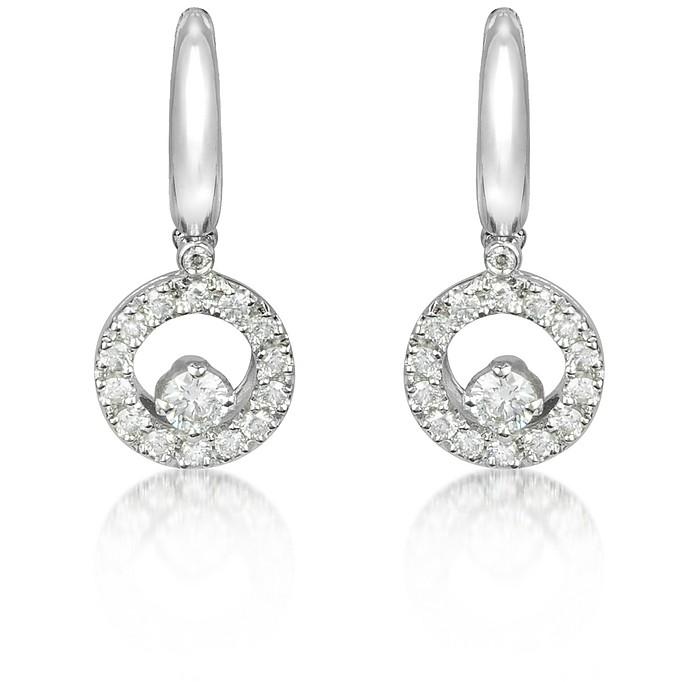 0.7 ctw Diamond 18K Gold Earrings - Incanto Royale