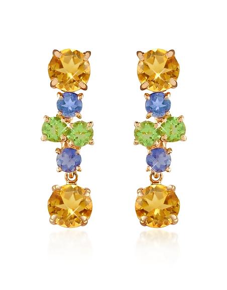 Foto Forzieri Orecchini in oro 18ct con pietre multicolor