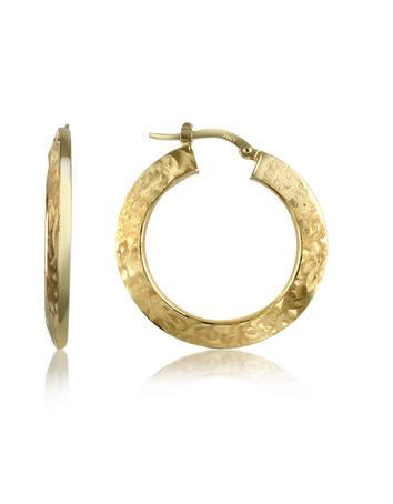 Forzieri 14k Hollow Gold Hoop Earrings