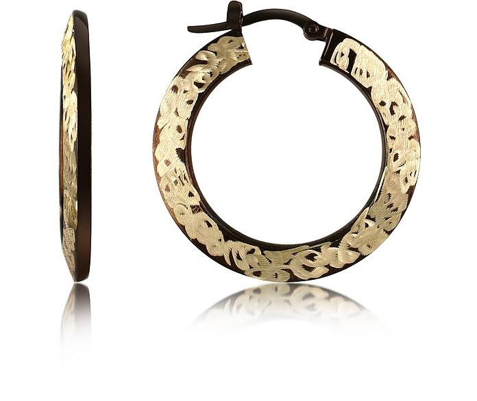 14k Hollow Gold Hoop Earrings - Forzieri