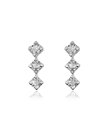 Forzieri - 0.24 ct Diamond Drop 18K Gold Earrings