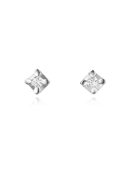 Forzieri Princess - Boucles d'oreille en or 750 avec diamant 0.04 Ct